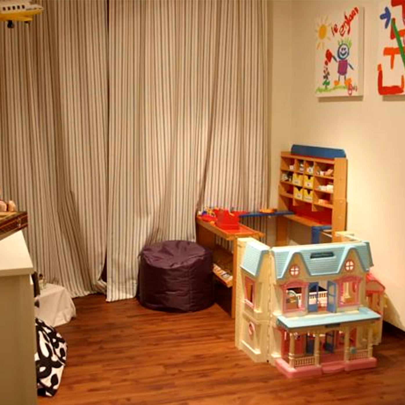 Für unsere kleinen Gäste haben wir ein Spielzimmer eingerichtet – damit auch regnerische Tage nicht langweilig werden!