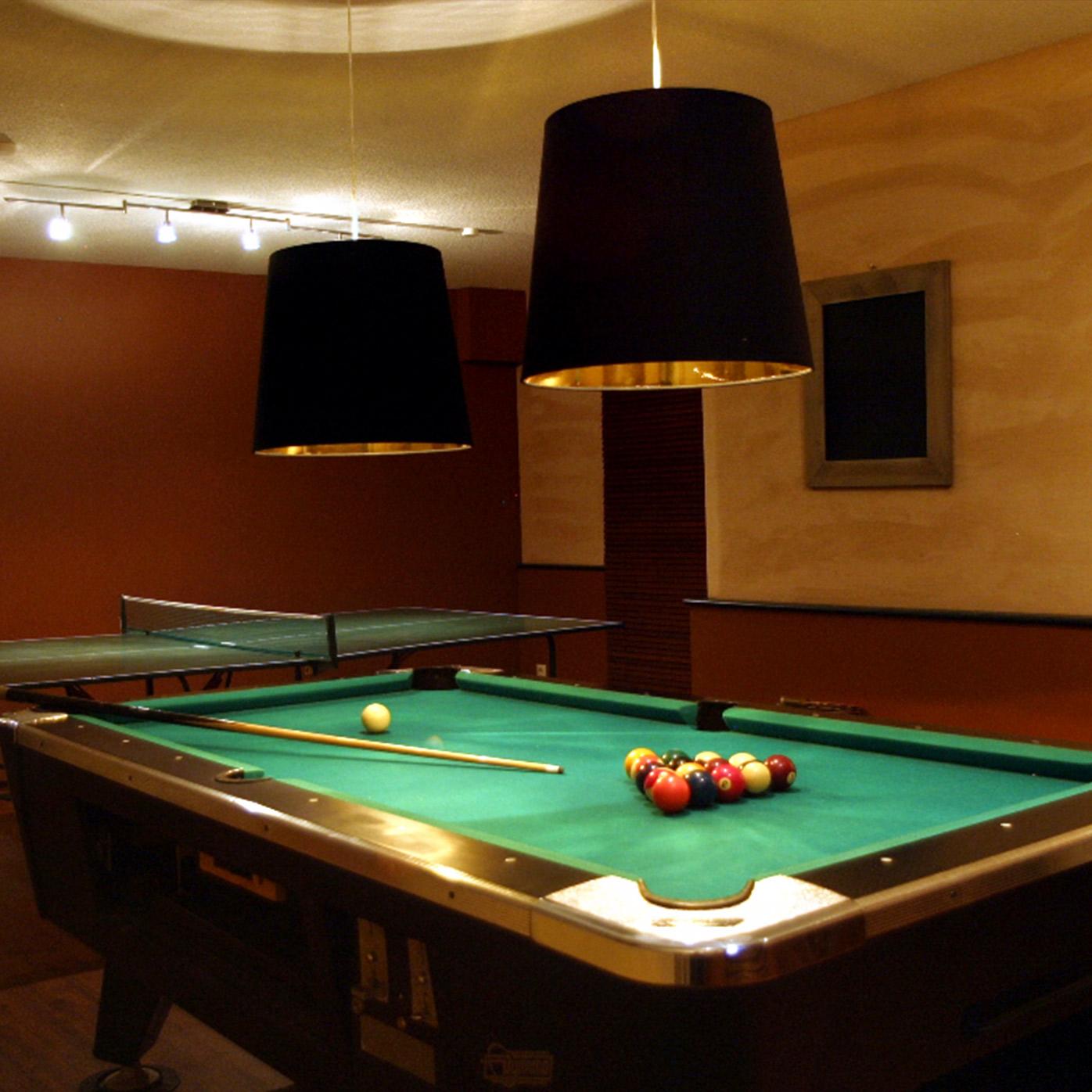 In unserem Aktiv-Bereich finden Sie unter anderem einen Billardtisch und eine Tischtennisplatte.